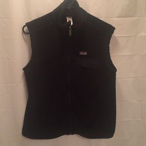 Patagonia Black Re-Tool fleece vest size L